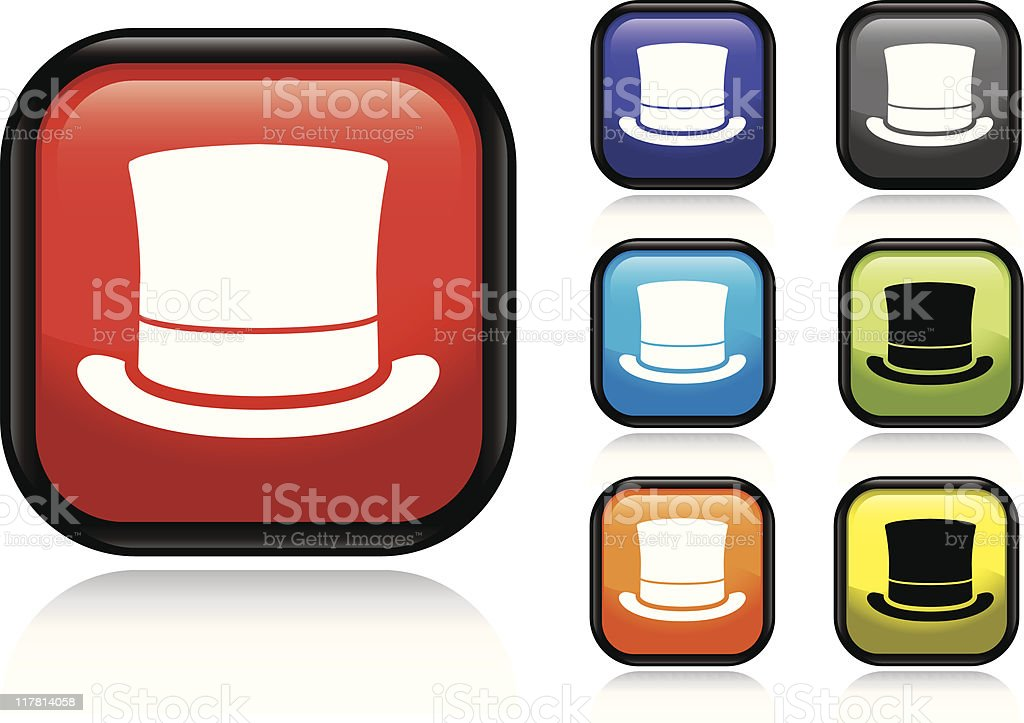 Top Hat Icon royalty-free top hat icon stock vector art & more images of black color