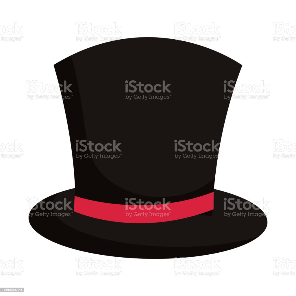 top hat icon vector art illustration