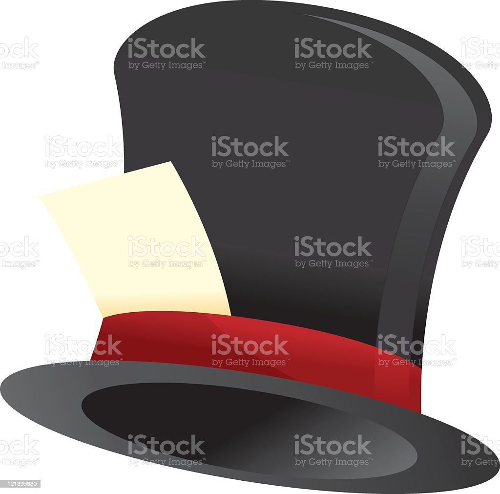 Top Hat V4.0 - Wand and Stars vector art illustration