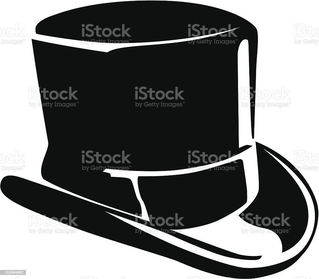 black top hat clip art, vector images & illustrations - istock