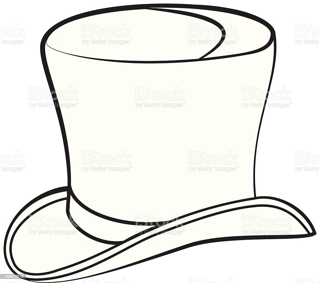 Top hat stock vector art more images of classical style for Black and white only