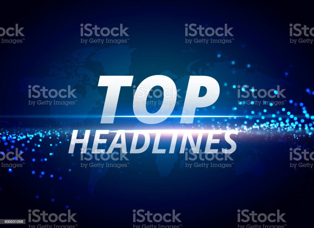 top headlines news background concept vector art illustration