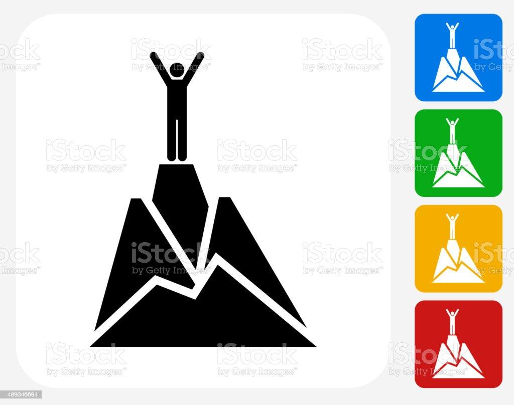 Sommet de la montagne à la conception graphique icône - Illustration vectorielle