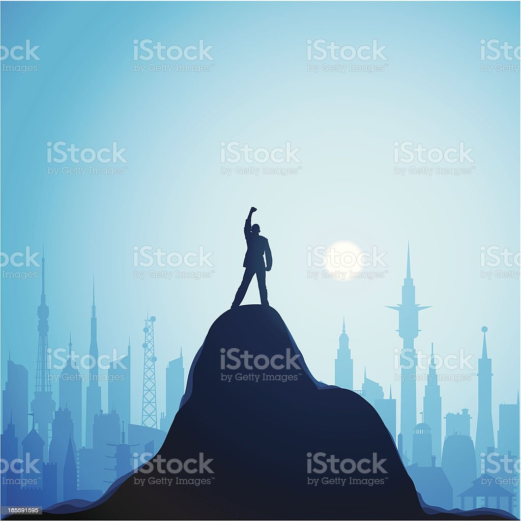 Top of the World vector art illustration