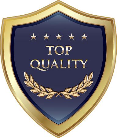 Top Quality Guaranteed Luxury Gold Shield