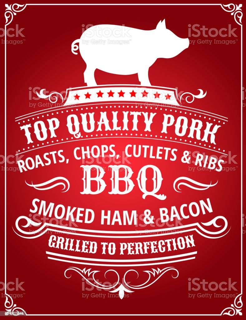 Top Quality Pork BBQ Poster royalty-free stock vector art