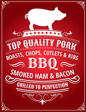 Top Quality Pork BBQ Poster