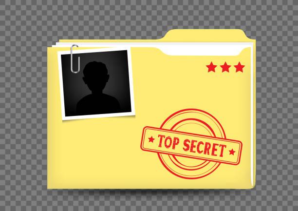 top secret folder on transparent - тайна stock illustrations
