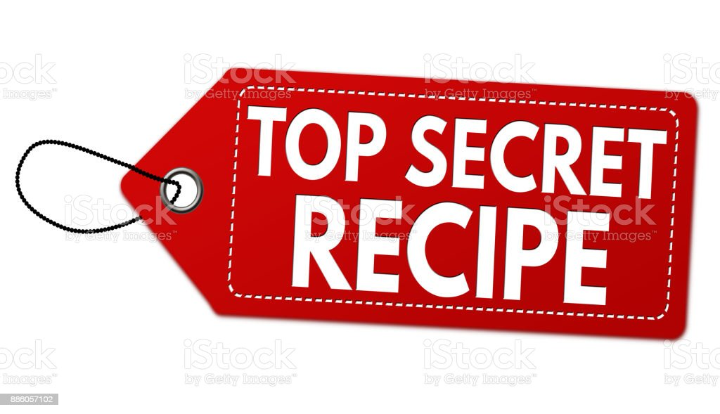 Top Secret Recipe Label Or Price Tag Stock Vector Art & More Images
