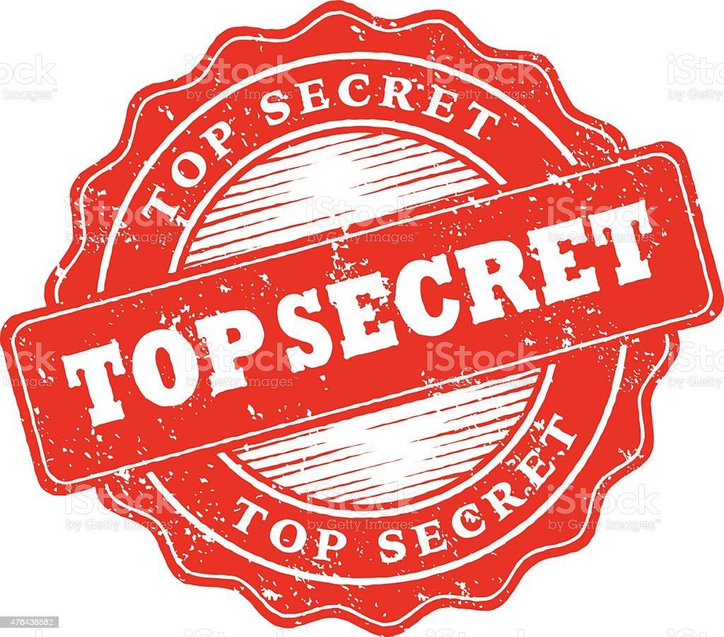 top secret rubber stamp ink imprint icon stock vector art