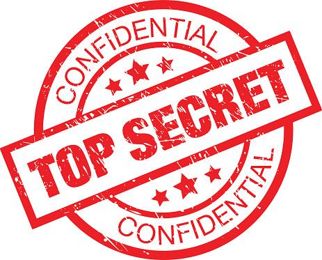 Top Secret Rubber Stamp Stock Illustration - Download Image Now