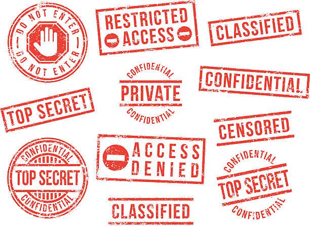top secret gumy znaczki - pieczęć gumowa stock illustrations