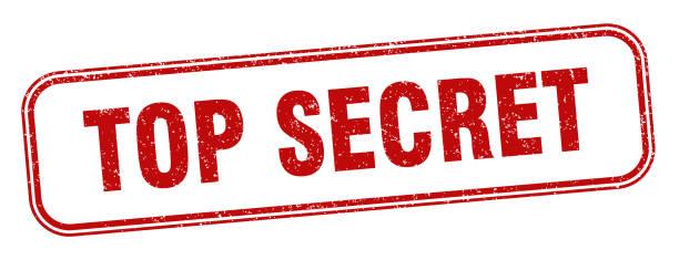top secret stamp. top secret square grunge sign. label vector art illustration