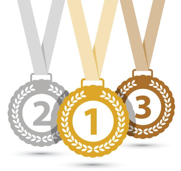 Top three medals Top three medals gezond stock illustrations