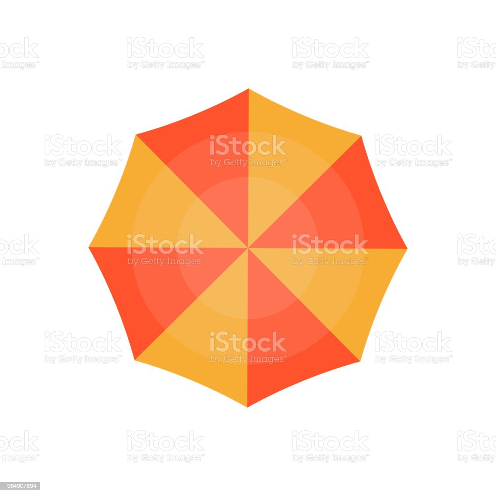 Top view beach umbrella isolated icon royalty-free top view beach umbrella isolated icon stock vector art & more images of beach