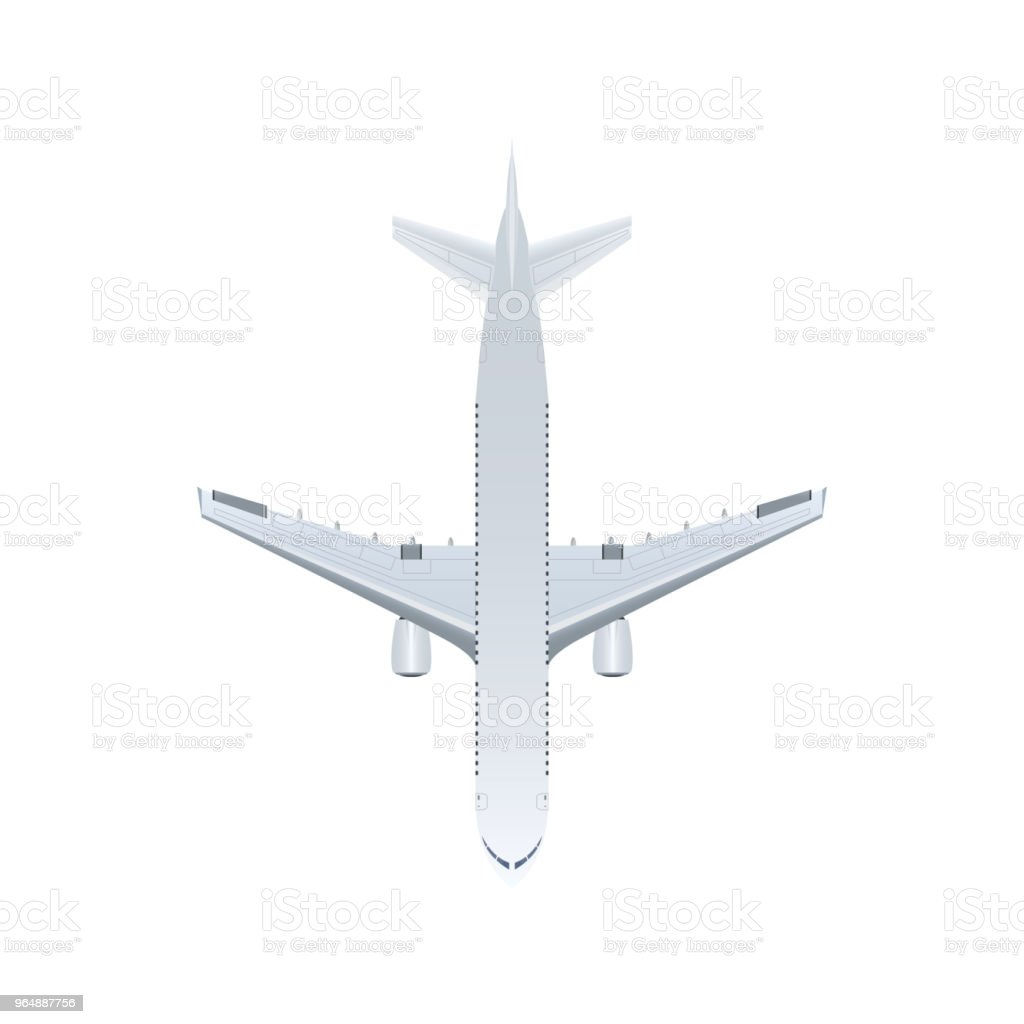 Top view jet airplane isolated vector icon royalty-free top view jet airplane isolated vector icon stock vector art & more images of air vehicle