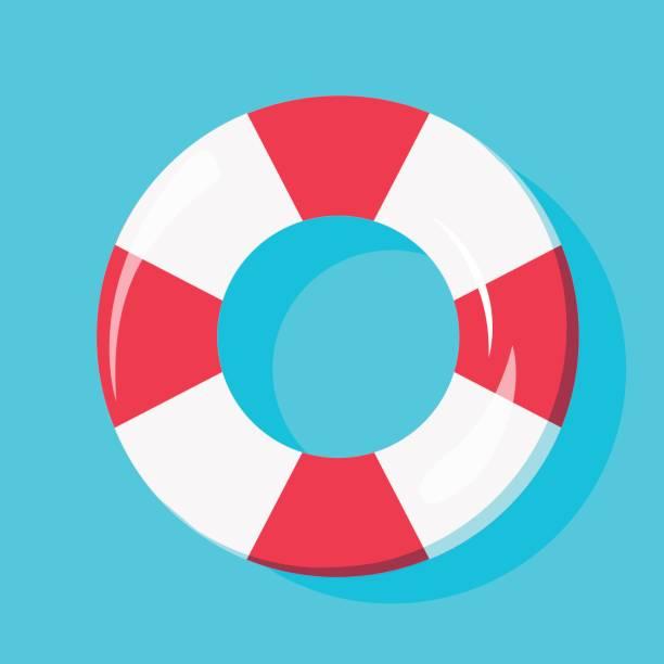浮き輪 イラスト素材 Istock