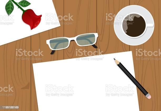 Top view of workspace desk with copy space and cup on background vector id1199188169?b=1&k=6&m=1199188169&s=612x612&h=mw1wksyxr wl3jjzir1gojl5g5xg2bdhwabqrqk0spc=