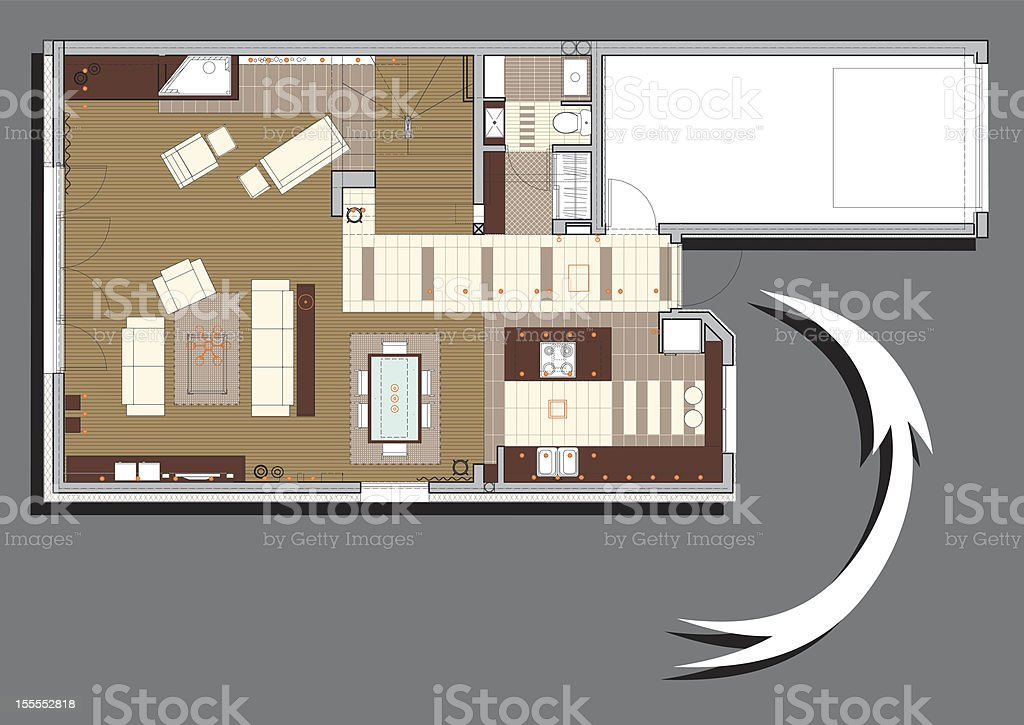 Top view rendering of an apartment royalty-free top view rendering of an apartment stock vector art & more images of apartment
