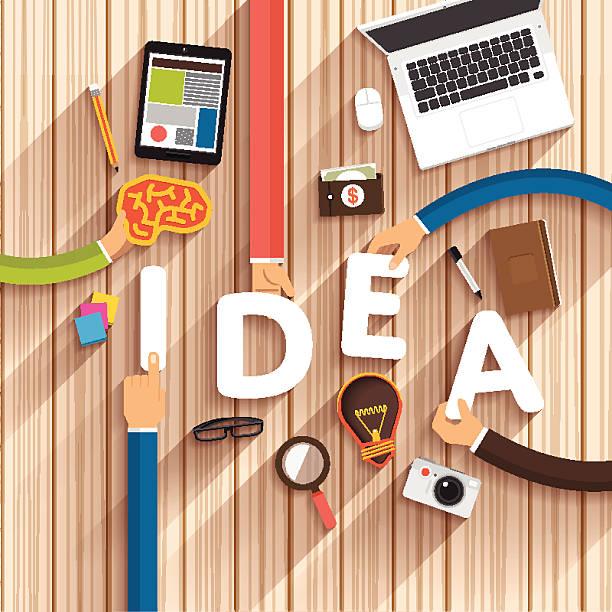 トップのテキストのためのアイデアを手の - 旅行代理店点のイラスト素材/クリップアート素材/マンガ素材/アイコン素材