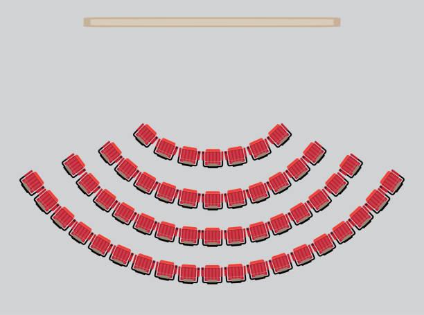 bildbanksillustrationer, clip art samt tecknat material och ikoner med top view visa plats i teatern - sittplats
