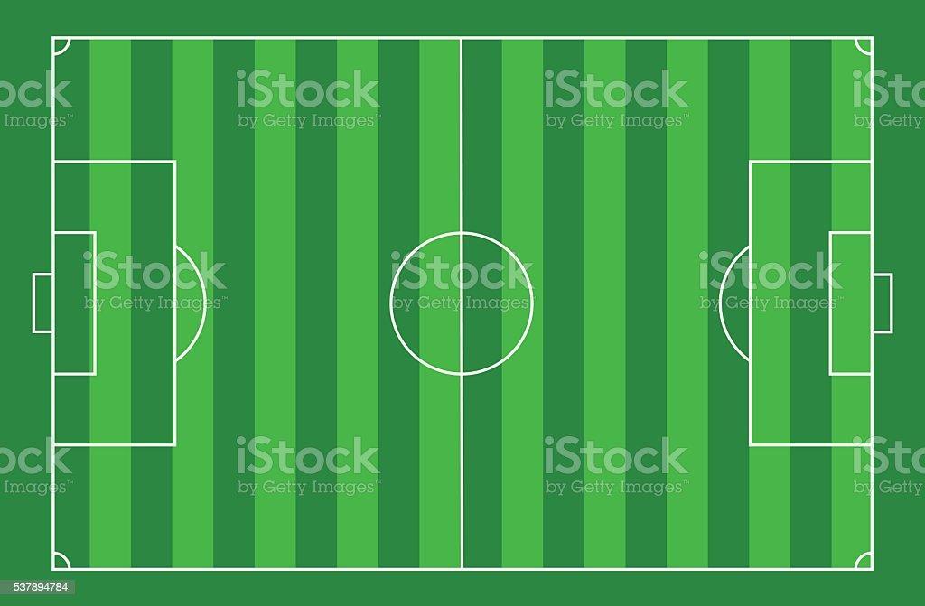 Vista superior cancha de fútbol ilustración de vista superior cancha de  fútbol y más banco de 69108af9a9680