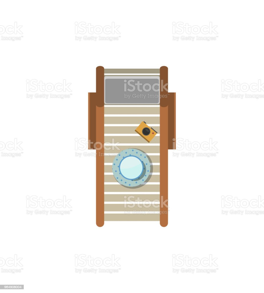 Top view sunbed isolated icon royalty-free top view sunbed isolated icon stock vector art & more images of beach