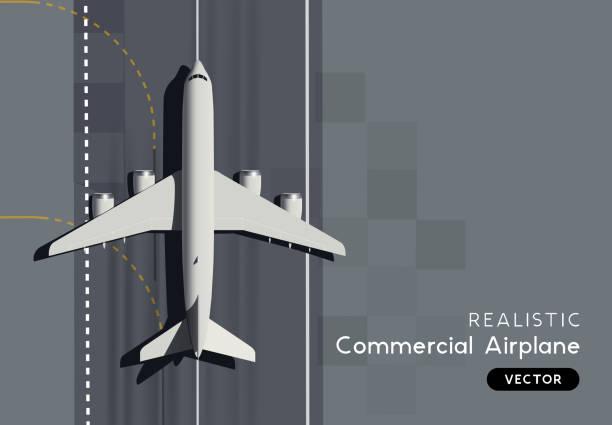Top View Vector Passagierflugzeug – Vektorgrafik