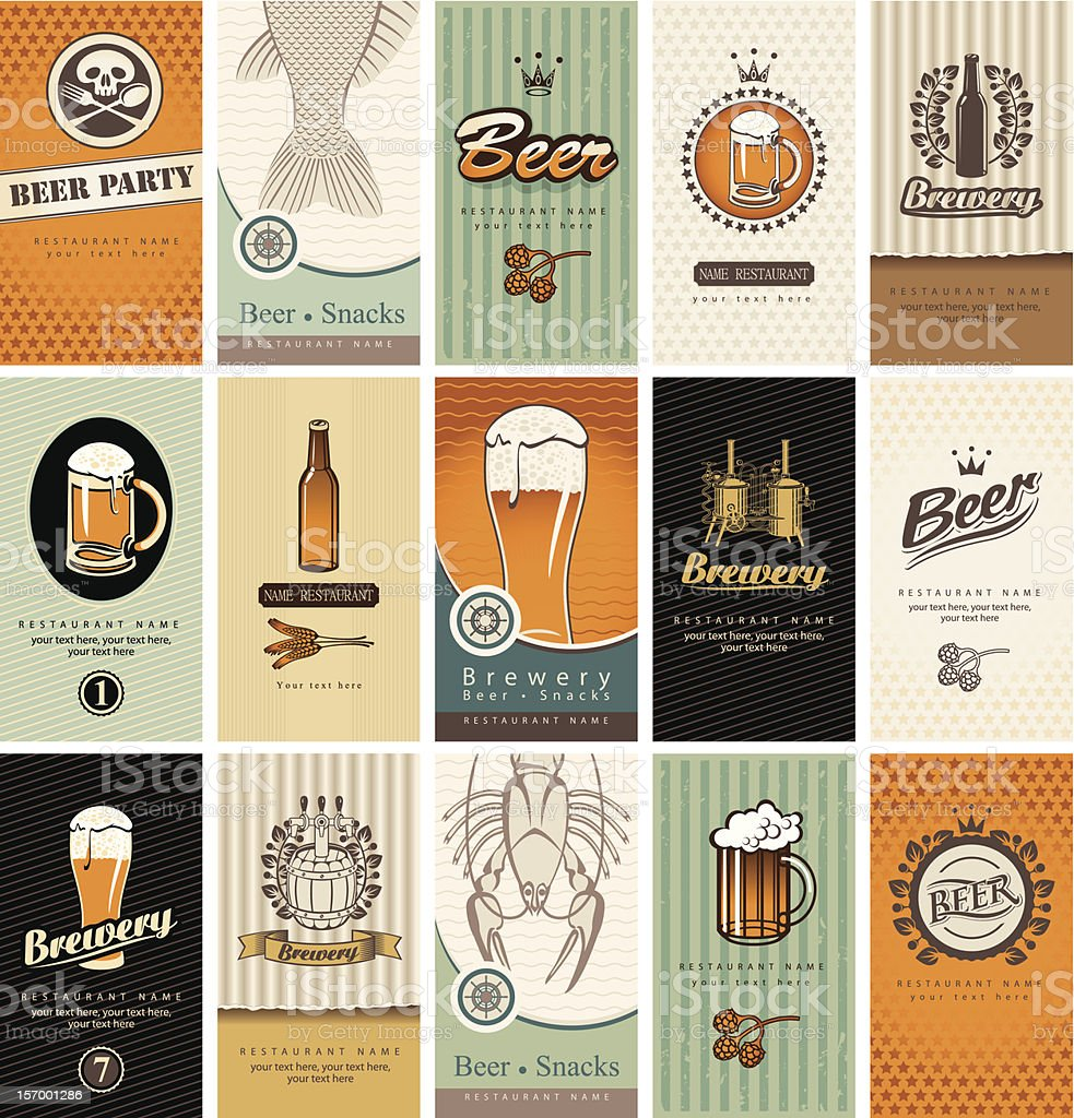 topic of beer vector art illustration