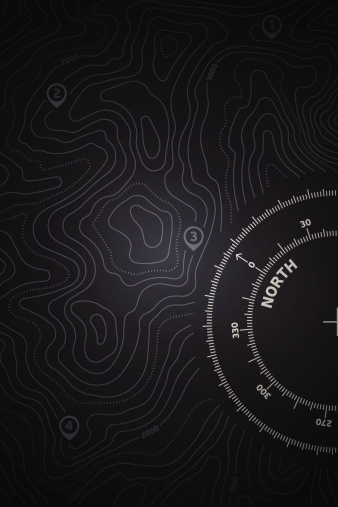 Topo Map Background