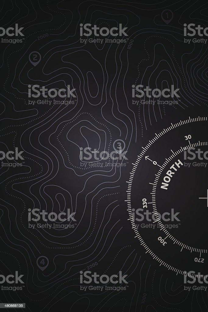 Topo Map Background vector art illustration