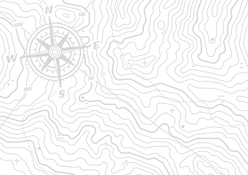 Topographic Compass Map Background