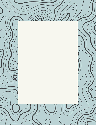 Topographic Contour Background with Copy Space
