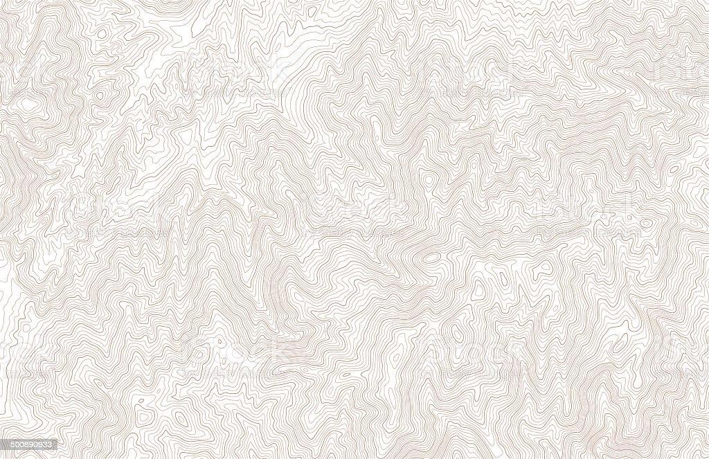 Topographic contour lines vector art illustration
