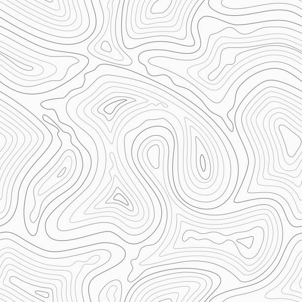 Topographic contour lines vector map seamless pattern Topographic contour lines vector map seamless pattern. Map of terrain geographic, illustration of topography linear map area contour line stock illustrations