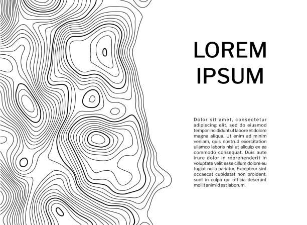 stockillustraties, clipart, cartoons en iconen met topografische kaart van contour achtergrond concept met ruimte voor uw tekst. - fysische geografie