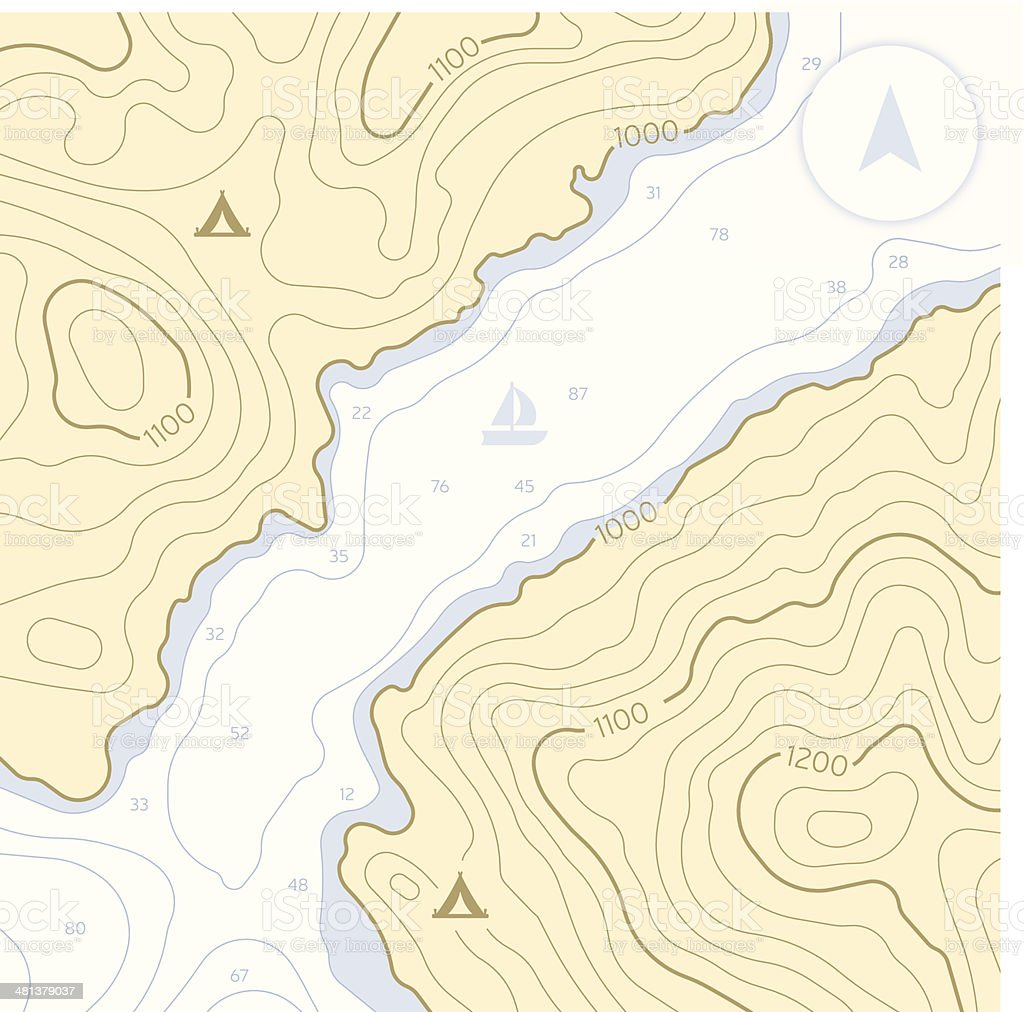 Topographic Landforms royalty-free stock vector art