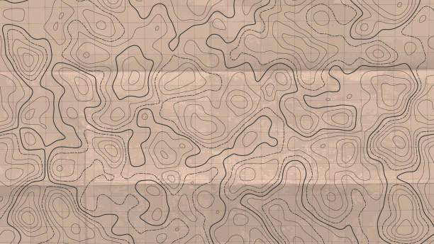 topographische linie karte. abstrakter begriff topografische karte im vintage-stil. vektor-hintergrund. - kabelskulpturen stock-grafiken, -clipart, -cartoons und -symbole