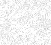 Topographic lines abstract smooth pattern background.