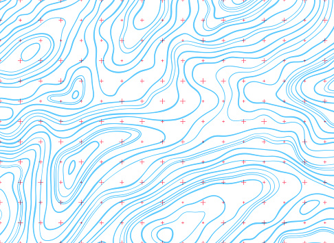 Isoline topographic lines background abstract design.