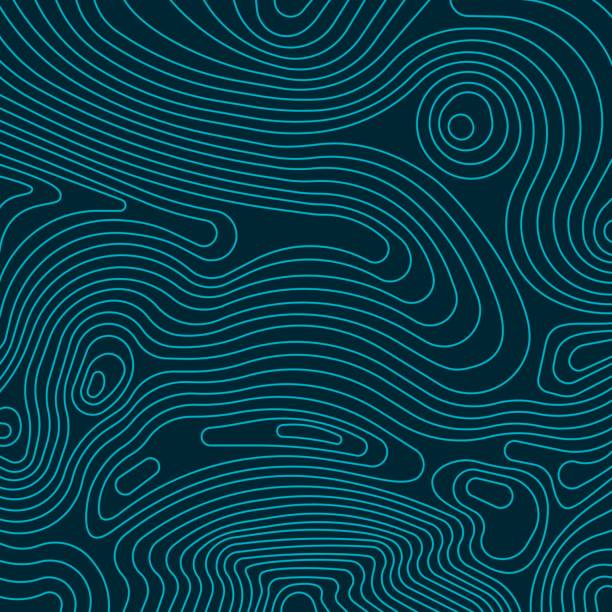 Topographic Lines Abstract topographic lines map illustration. contour line stock illustrations