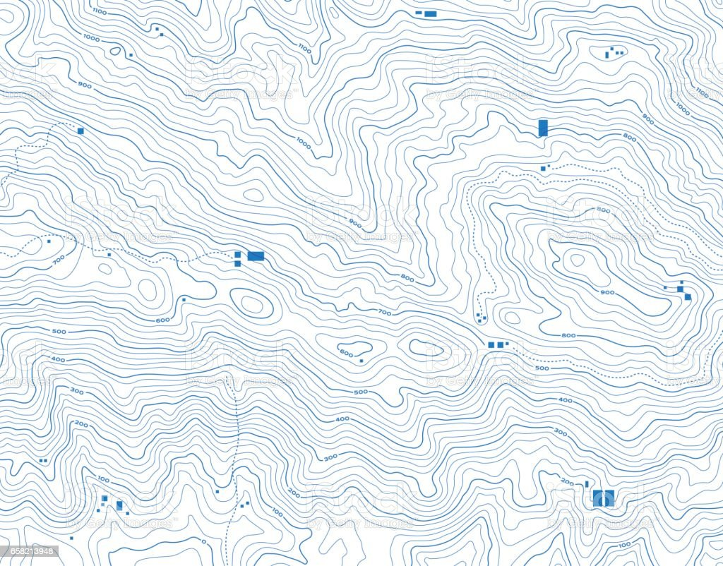 Topographic Map Abstract Background vector art illustration
