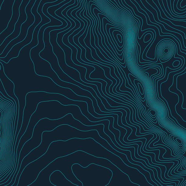 topographische karte hintergrund konzept mit platz für ihre kopie. topographie-linien kunst kontur, berg-wanderweg, vektor-form-design. computergenerierte - kabelskulpturen stock-grafiken, -clipart, -cartoons und -symbole