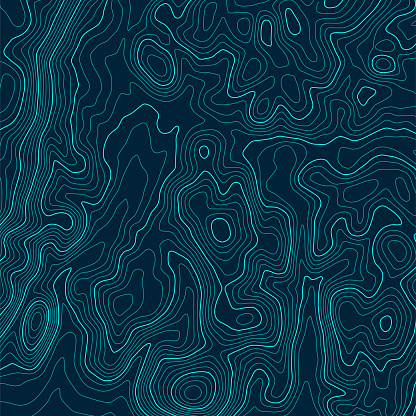Topographic map background concept with space for your copy. Topography lines art contour , mountain hiking trail , Shape vector design. Computer generated stock illustration