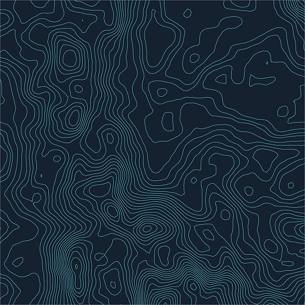 Topographic map background concept with space for your copy. Topography – Vektorgrafik