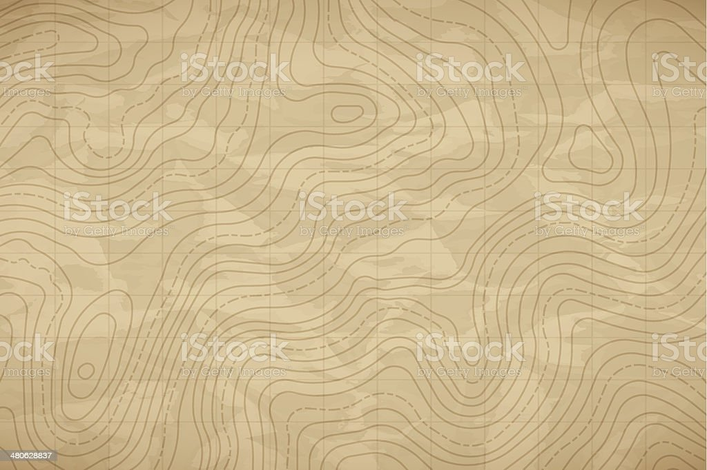 Topographic Map Background vector art illustration