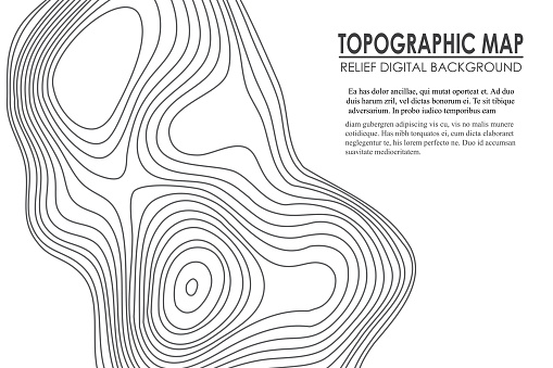 Topographic map contour background. Line map with elevation. Geographic World Topography map grid abstract vector illustration