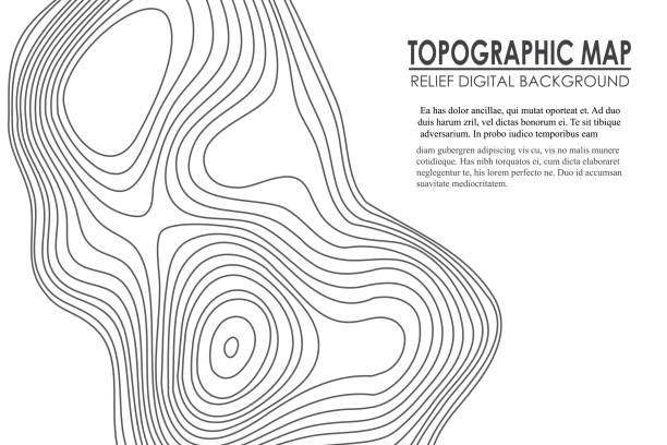 Topographic map contour background. Line map with elevation. Geographic World Topography map grid abstract vector illustration Topographic map contour background. Line map with elevation. Geographic World Topography map grid abstract vector illustration. contour line stock illustrations