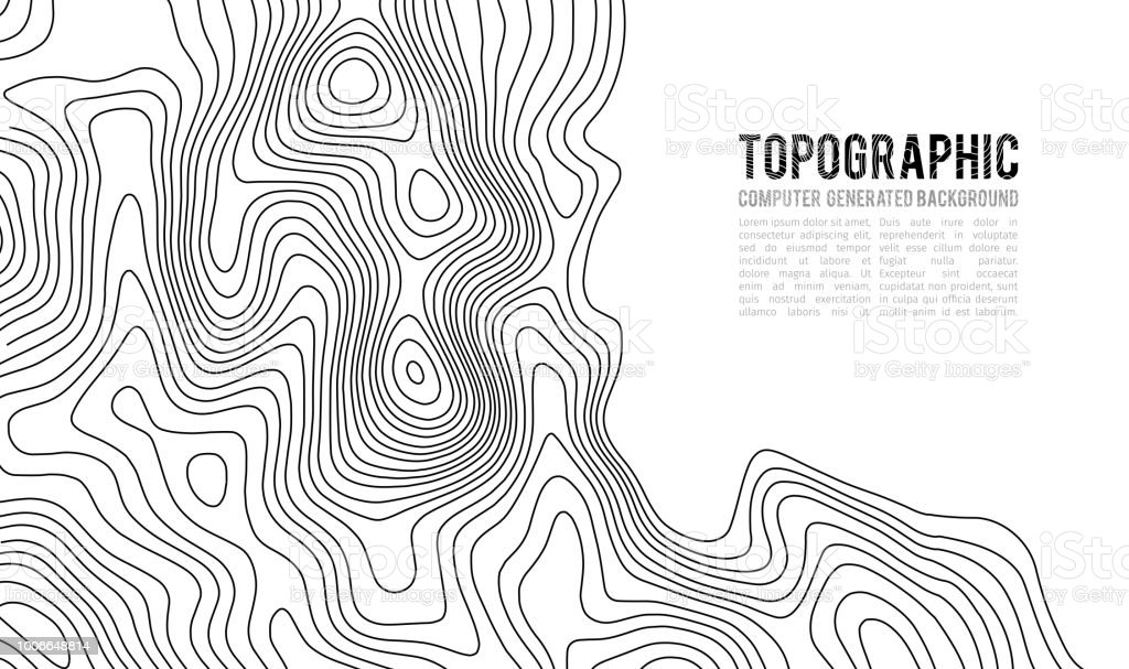 Topographic Map Contour Background Topo Map With Elevation Contour ...