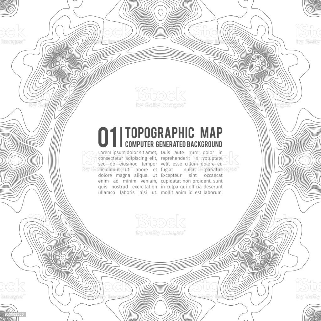 Topographic map contour background topo map with elevation contour topographic map contour background topo map with elevation contour map vector geographic world gumiabroncs Images